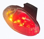 LED Battery Powered Amber/ Red Clearance Light