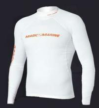 Magic Marine Cube Rash Vest Long Sleeve White