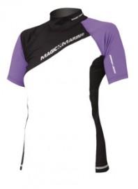 Ladies Short Sleeve Purple UV 50+ Magic Marine  Sun/Rash Shirt